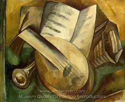 georges braque al instruments oil painting reion