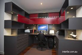 red home office. Red Home Office