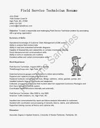 Cable Technician Resume Examples Field Technician Resume Sample