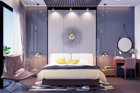 Purple Feature Wall Bedroom Gray Bedding Ideas Mustard Feature Chair Resplendent In Honeycomb