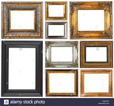 white antique picture frames. Antique Frames Isolated On A White Background - Stock Image Antique Picture