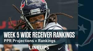 Seahawks Wr Depth Chart Week 5 Wr Rankings Ppr Wide Receiver Fantasy Stats