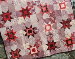 PDF Quilt Pattern ...Quick and Easy ...Layer Cake or Fat & PDF QUILT PATTERN.... Fat Quarter Friendly Star Quilt, Reach for the Adamdwight.com