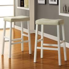marvelous white saddle bar stools 16