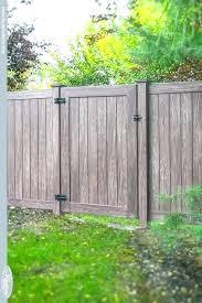 vinyl fence gates wood vs look beautiful grain menards richmond heavy duty matching double g