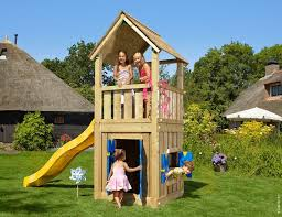 childrens wooden climbing frames club playhouse 14