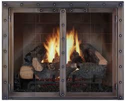 glass door fireplace insert image collections doors design modern