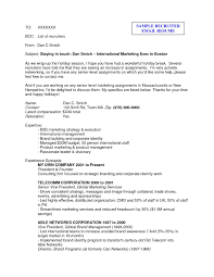 Sample Email To Recruiter With Resume sample email to recruiter with resume Savebtsaco 1