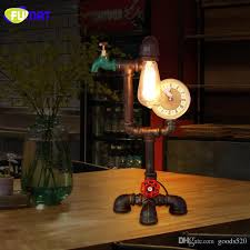 fumat led water pipe table lamps energy saving office study