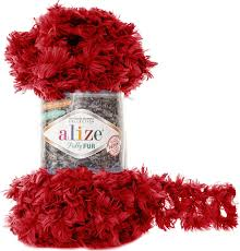 <b>Пряжа Alize Puffy Fur</b>, 7728472_6109, 100 г, 6 м, 5 шт