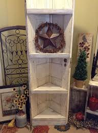 corner shelf made from old door i can build this