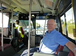 trimet bus operator honored for years hours of stellar trimet operator rolynd puckett training a new operator on line 67 merlo rd sw