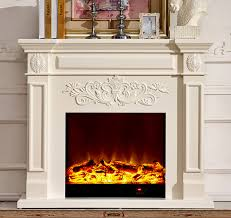 wood fireplace mantel w130cm with electric fireplace insert warm air er room heater artificial led optical
