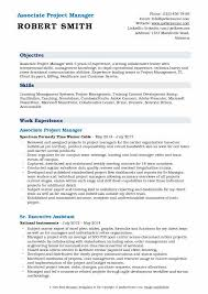 Associate Project Manager Resume Samples Qwikresume