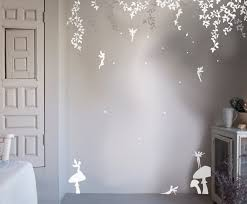 Small Picture Bambizi White Wall Stickers Fairy Design Flower Fairy