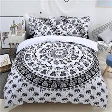 2018 3d black ganesha paisley print bedlinens polyester microfiber bed cover twin queen king pillowcases duvet cover set full duvet covers bedroom linen