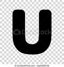 U Template Letter U Sign Design Template Element Black Icon On Transparent