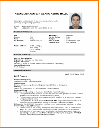 8 Biodata Sample Format For Job Application Assembly Resume The