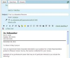 Best Solutions of Email Message With Resume And Cover Letter Attached With  Additional Worksheet