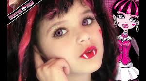 draculaura monster high doll costume makeup tutorial for or cosplay kittiesmama