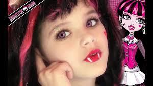 draculaura monster high doll costume makeup tutorial for or cosplay kittiesmama