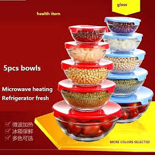 glass bowl sets dinnerware set glass bowls set storage mixing noodle bowls health microwave refrigerator glass glass bowl sets