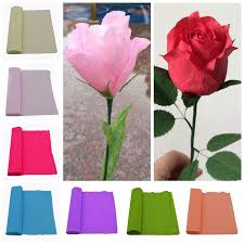 Make Crepe Paper Flower 250x25cm 1 Roll Diy Flower Making Crepe Papers Wrapping Flowers