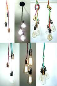 pendant light cord tended too long black set cloth kit canada pendant light
