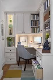 home office corner computer desk. Corner Computer Desk And White Wall Bookshelf Cabinets In Small Modern Home Office Interior Design Ideas O