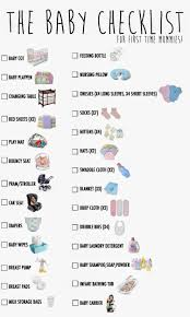 Baby Check List Ohsofickle My First Baby Checklist