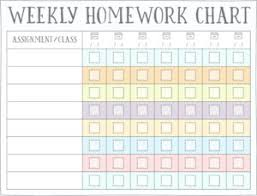 Weekly Homework Planner Homework Reward Charts Free Printables Live Craft Eat