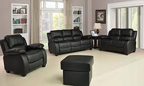 valerie black leather sofa suite