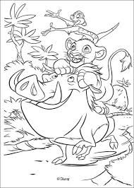 Simba Timon And Pumbaa Play Coloring Pages