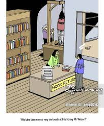 late library book cartoon 1 of 1