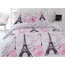 Paris Accessories For Bedroom Details About Paris Chic Eiffel Tower White Pink Grey Single Quilt