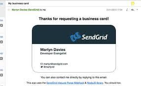 Oh Cardless My Business Card Email App Sendgrid