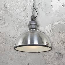 large vintage industrial pendant light