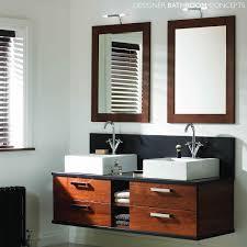double basin vanity units for bathroom. double basin bathroom vanity unit. sku: dbc/oakland1. mereway oakland designer wall hung furniture - main image units for