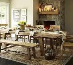 benchwright reclaimed wood extending dining table wax pine finish