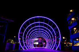Free Images : light, night, landmark, purple, architecture, technology,  neon, sky, electric blue, Visual effect lighting, electricity, darkness,  circle, tourist attraction, symmetry, city, electrical supply 5000x3333 - -  1607592 - Free stock photos ...
