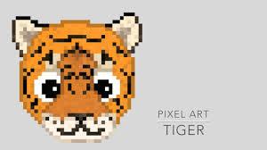 Pixel Art Tiger Youtube