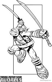 Small Picture Teenage Mutant Ninja Turtle Coloring Page Magical Minds