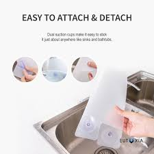 Eutuxia Silicone Sink Water Splash Guard With Suction Cups For