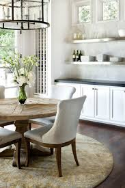 rustic round kitchen table. Stylish Vintage Rustic Kitchen: Kitchen With Round Wooden Dining Table And White N