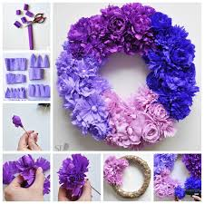 How To Make Flower Using Crepe Paper How To Make An Ombre Crepe Paper Flower Wreath Pictures Photos And
