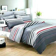 mens duvet covers comforter sets bedding sets grey and red stripes printing bedding set queen bed