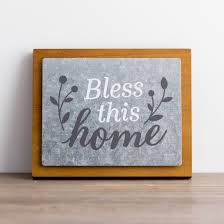 bless this home wood and metal wall art