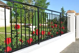 short wrought iron garden fence 75 fence designs styles patterns tops materials and ideas
