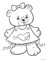 A plastic barrel protects the color core. Crayola Lovely Teddy Bear Girls Coloring Pages Printable