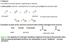 Nucleophile Strength Chart What Makes A Good Nucleophile Chemistry Organic